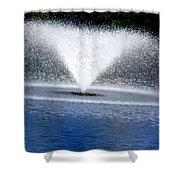 Blue Fountain Shower Curtain