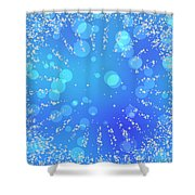 Blue Frozen Window Shower Curtain