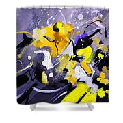 Blue Galactic Motion Shower Curtain
