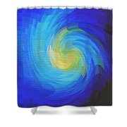 Blue Galaxy Shower Curtain