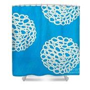 Blue Garden Bloom Shower Curtain by Linda Woods