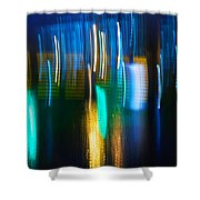 Blue Ghosts Shower Curtain