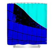 Blue Glass Abstract Shower Curtain