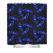Blue Glass  Shower Curtain