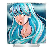Blue Glow Shower Curtain