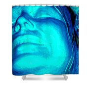 Blue Goddess Shower Curtain