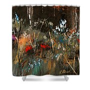 Blue Grass And Wild Flowers Shower Curtain