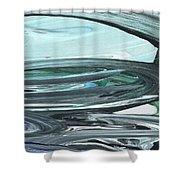 Blue Gray Brush Strokes Abstract Art For Interior Decor V Shower Curtain