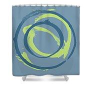 Blue Green 1 Shower Curtain
