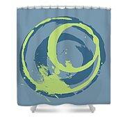 Blue Green 2 Shower Curtain