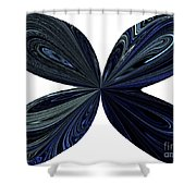 Blue, Green And Black Butterfly Astract Shower Curtain