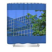 Blue Green Harmony Shower Curtain