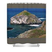 Blue Green Seas - Highway One Shower Curtain