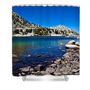 Blue Green Treasure Lake Shower Curtain