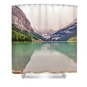 Blue-green Waters Of Lake Louise Shower Curtain