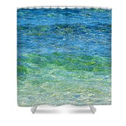 Blue Green Waves Shower Curtain