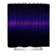 Blue Grid Shower Curtain