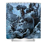 Blue Grotto Shower Curtain