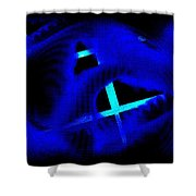 Blue Guitar 2 Shower Curtain