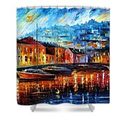 Blue Harbor Shower Curtain