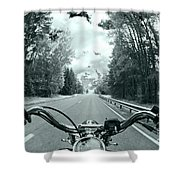Blue Harley Shower Curtain