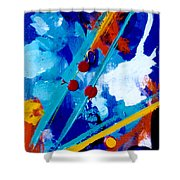 Blue Harmony  #128 Shower Curtain
