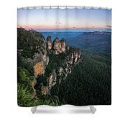 Blue Haze At Sunrise At Ecco Point In Blue Mountains Shower Curtain