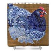 Blue Hen Shower Curtain