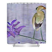 Blue Heron Colorized Shower Curtain