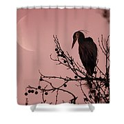 The Heron And The Moon Shower Curtain
