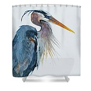 Great Blue Heron Shower Curtain by Jani Freimann