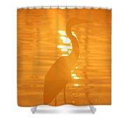 Blue Heron Sunrise Shower Curtain