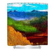 Blue Hills Shower Curtain