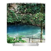 Blue Hole National Park Shower Curtain