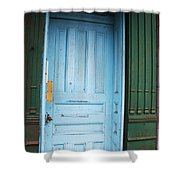 Blue Home Shower Curtain
