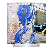 Blue Hook Shower Curtain