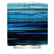 Blue Horrizon Shower Curtain