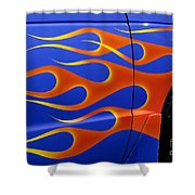 Blue Hot Rod Closeup Shower Curtain