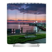 Blue Hour At Cape Shores Shower Curtain