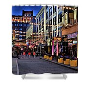 Blue Hour At East Fourth Shower Curtain