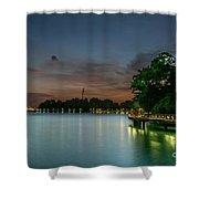 Blue Hour Harbourfront Singapore Shower Curtain