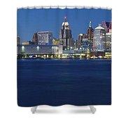 Blue Hour In Detroit Shower Curtain