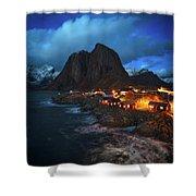 Blue Hour In Lofoten Shower Curtain