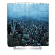 Blue Hour In New York Shower Curtain