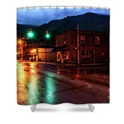 Blue Hour In Webster Springs Shower Curtain