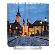 Blue Hour In Wuerzburg Shower Curtain