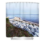 Blue Hour On Choctawhatchee Bay Shower Curtain