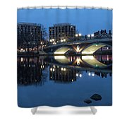 Blue Hour On The Charles Shower Curtain