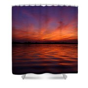 Blue Hour On The Neches  Shower Curtain