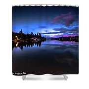 Blue Hour Reflected Shower Curtain